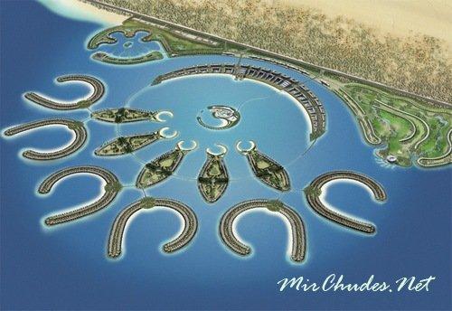 Durrat Al Bahrain — великолепный курортный приморский город включающий 12 островов.