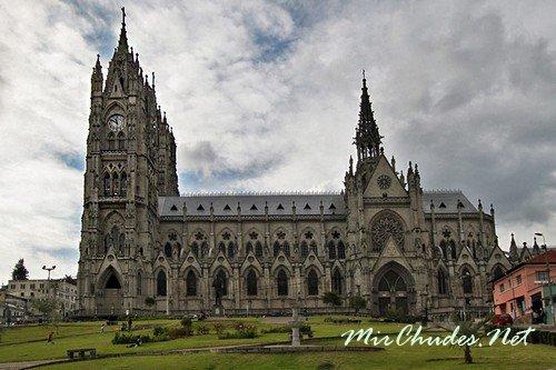 Кафедральный собор в красивой столице Эквадора — Кито.