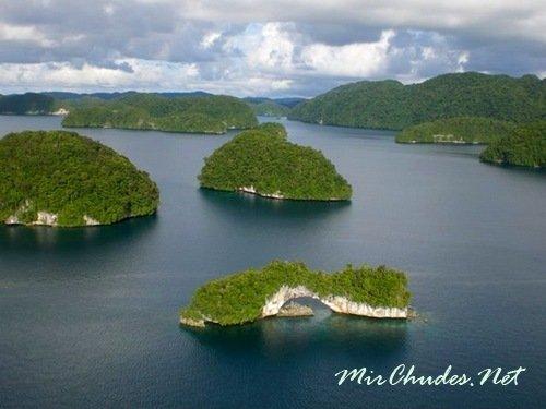Горные острова Палау.
