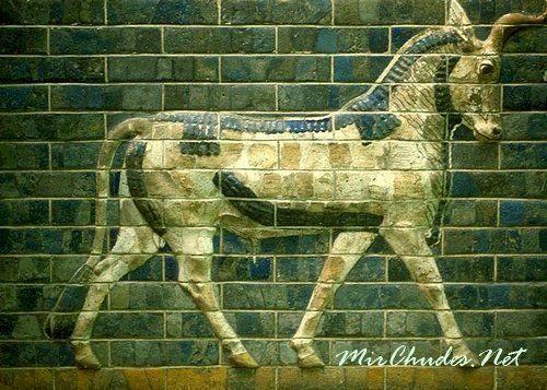 Орнамент стен дороги Мардука, Вавилон, VII-VIвв. до н.э.