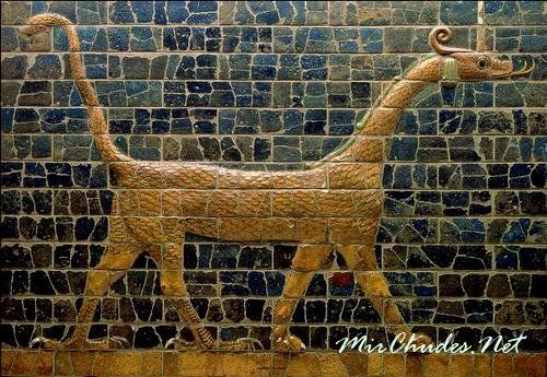 Сирруш — орнамент стен дороги к храму бога Мардука, Вавилон, VII-VIвв. до н.э.