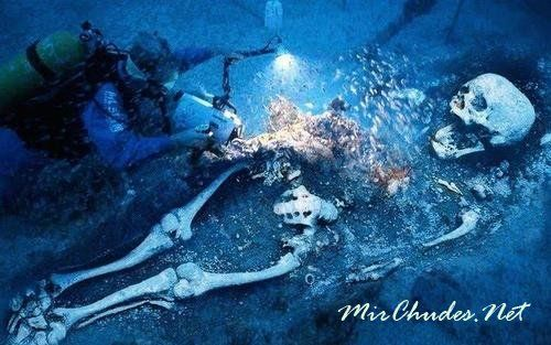 Останки Древнего Гиганта в глубинах океана.
