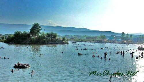 Озеро Кунигунда — самое большое, расположенно на месте бывшей соляной шахты.