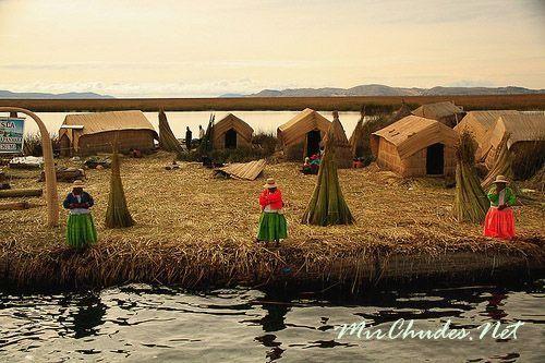Плывучие острова индейцев племени Уру.