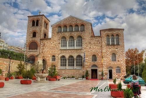 Базилика Святого Димитрия в Салониках (Греция, 412-413гг.).
