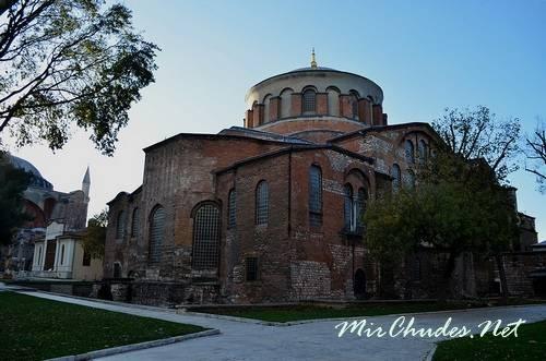 Церкви Святой Ирины в Константинополе (Стамбул, Турция, 532 г.).