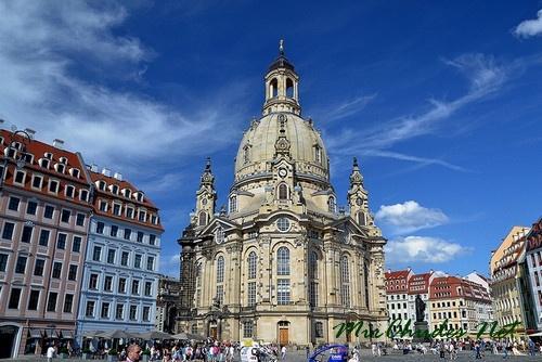 Церковь Фрауэнкирхе (Германия, Саксония, г. Дрезден, 1726-1743 гг.).