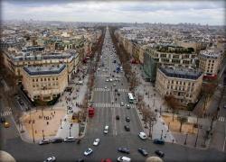 Париж - Елисейские Поля,  квартал Инвалидов  и  Эйфелевой  башни