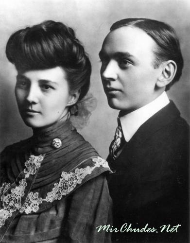 Эдгар Кейси с женой Гертрудой.