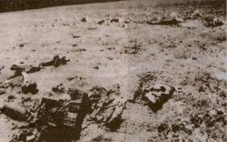 Человеческий скелет на Луне