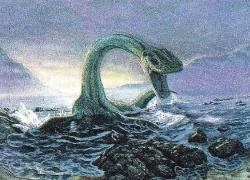 Загадочное животное из шотландского озера Лох-Несс